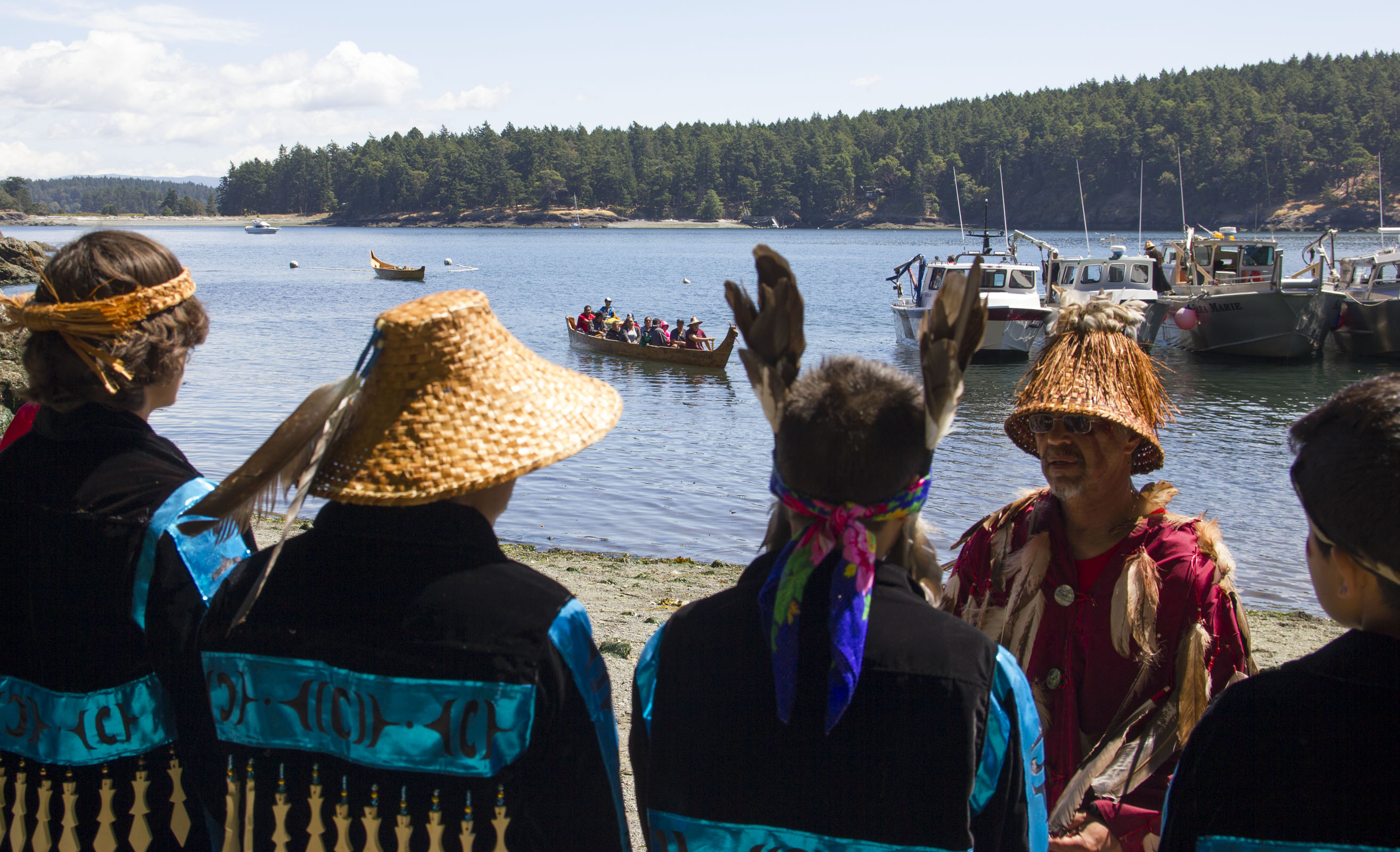 Lummi Nation members honor traditions at historical fishing site