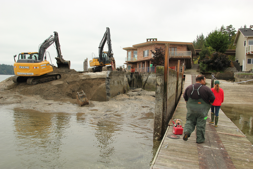 Squaxin Island Tribe restoring vital shoreline in Puget Sound
