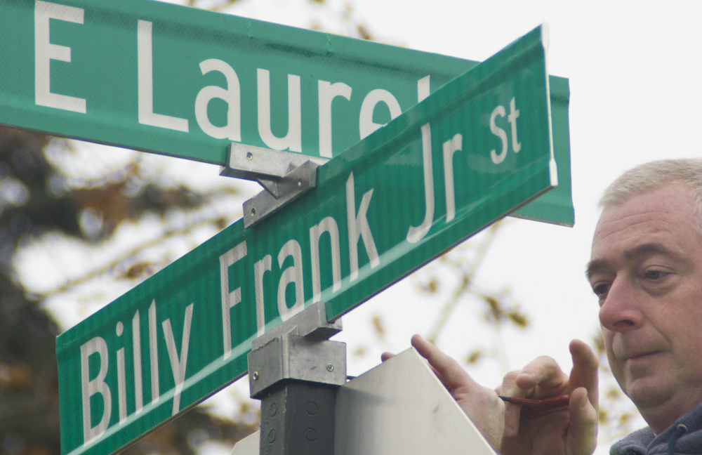 First Billy Frank Jr. Street Sign Installed in Bellingham