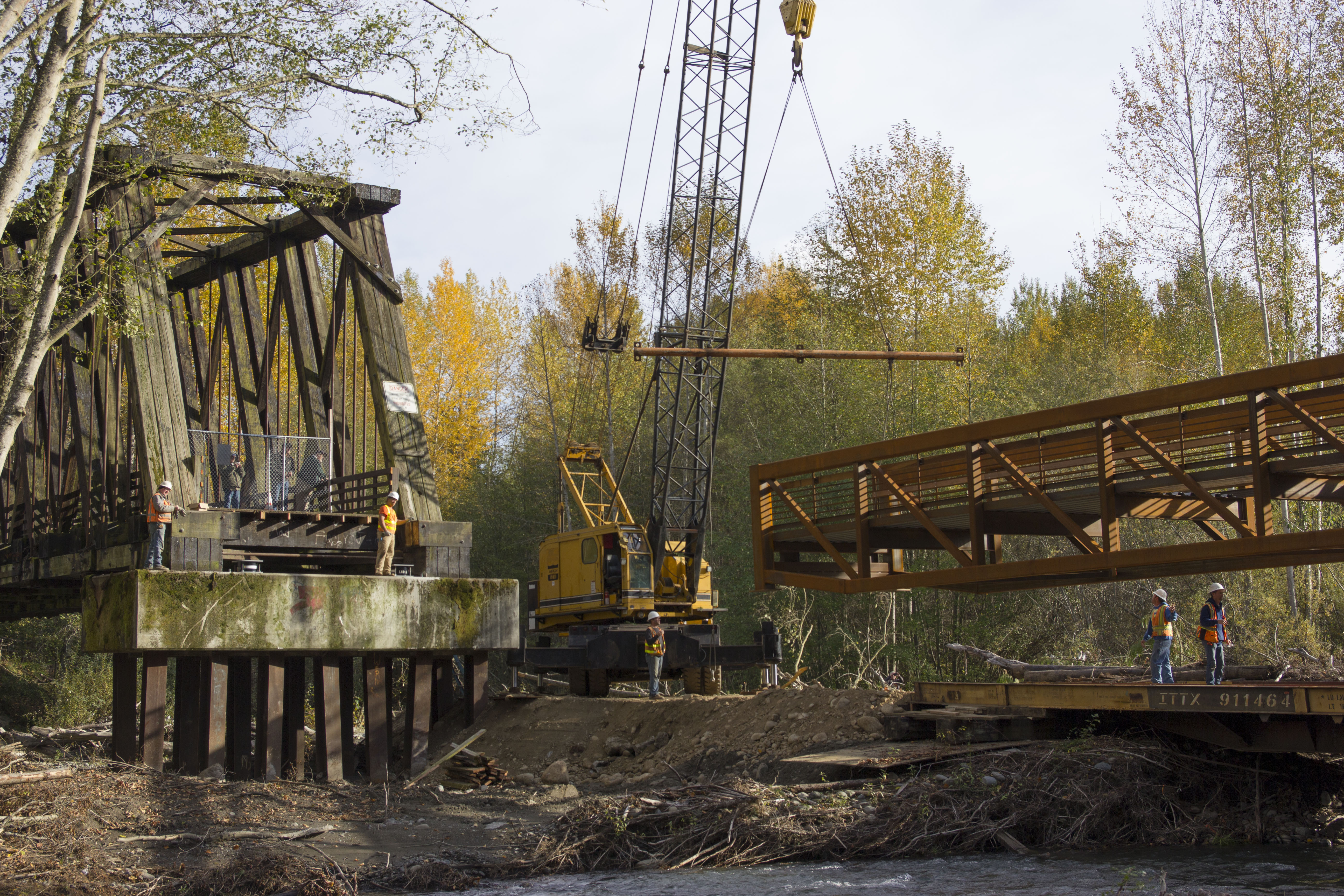 Railroad Park trestle replaced with salmon- and trail-friendly span