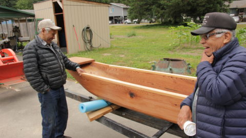 A river canoe is back on the Nisqually River