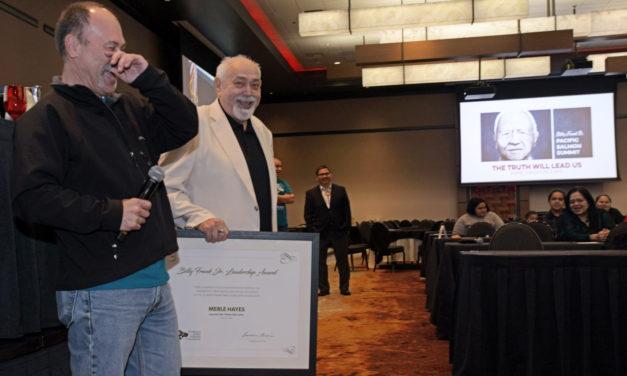 Hayes Receives 2018 Billy Frank Jr. Leadership Award